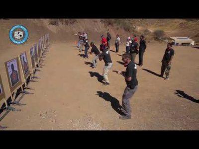 security students practicing Handgun Shooting Tactics at PWA.edu