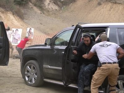 students practicing drills at PWA's Executive Protection Training academy in los angeles