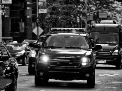 security team in vehicle using Strategies Against Hostile Surveillance - PWA.edu