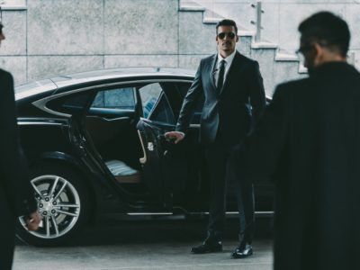 security guard opening car door for clients - Close Protection Training and Careers at PWA.edu