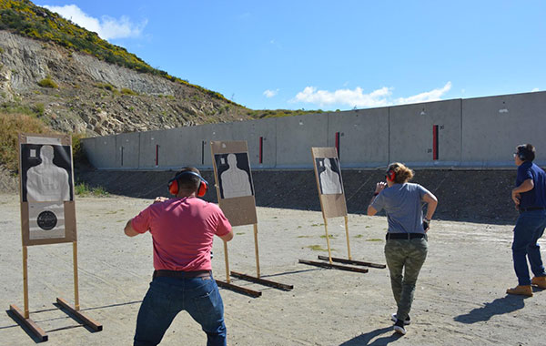 firearm practice during an Executive Protection Training Programs at Pacific West Academy