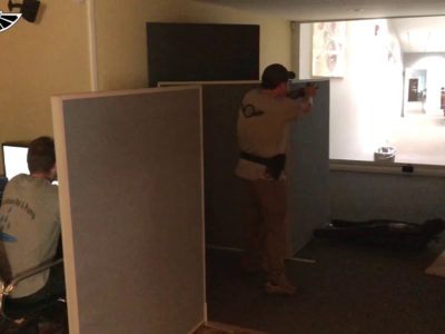 students train in Handgun Shooting Tactics - Fundamentals - at PWA.edu