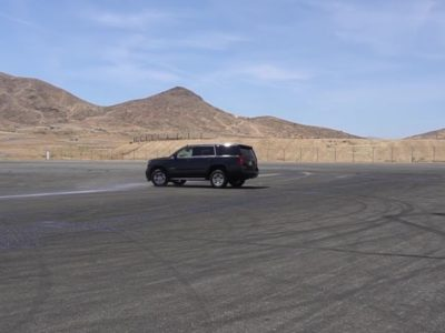 Emergency Vehicle Operator training on empty road - PWA.edu security academy