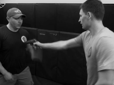 student and teacher at PWA.edu practicing the Krav - Combative course