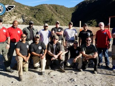 students class picture from the GI Bill Approved Executive Protection Training Program at PWA.edu