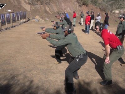 students learning shooting skills in a GI Bill Approved Executive Protection Training Program at PWA.edu